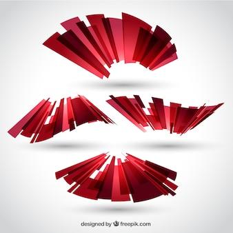 Fita poligonal em estilo abstrato