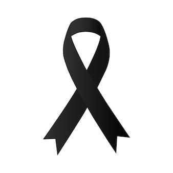 Fita preta de conscientização. melanoma e câncer de pele