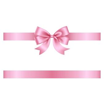 Fita rosa com laço
