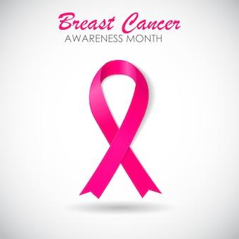 Fita rosa consciência de câncer de mama