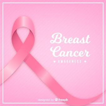 Fita rosa para conscientização do câncer de mama