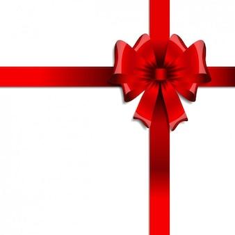 Fita vermelha do presente de aniversário