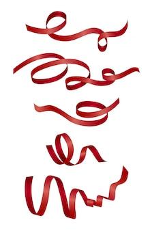 Fita vermelha em branco