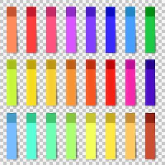 Fitas adesivas de cor de vetor com modelo de sombra.