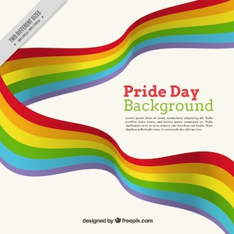 Fitas coloridas orgulho do fundo do dia
