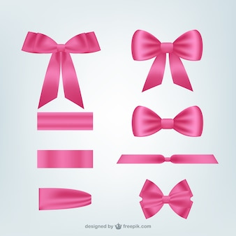 Fitas cor de rosa embalar