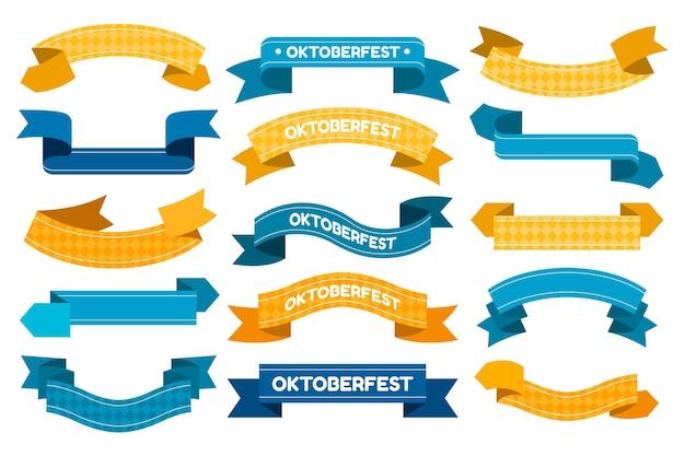 Fitas da oktoberfest em design plano