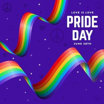 Fitas de bandeira do dia do orgulho