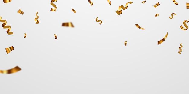 Fitas de confete ouro.