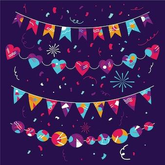 Fitas de festa para decoração de aniversário