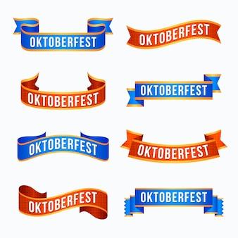 Fitas de festival plana oktoberfest Vetor grátis