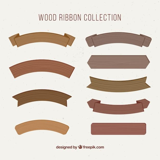 Fitas de madeira