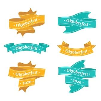 Fitas de oktoberfest de design de mão desenhada