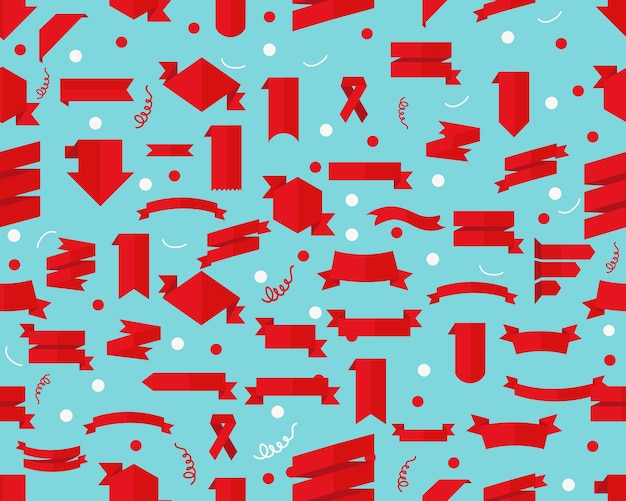Fitas de padrão de textura plana sem costura vector.