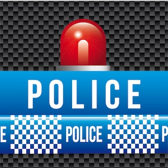 Fitas de polícia sobre ilustração vetorial de fundo preto