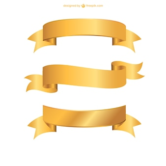 Fitas douradas definidos