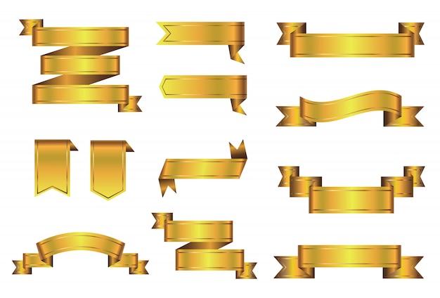 Fitas douradas