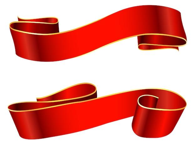 Fitas vermelhas elegantes