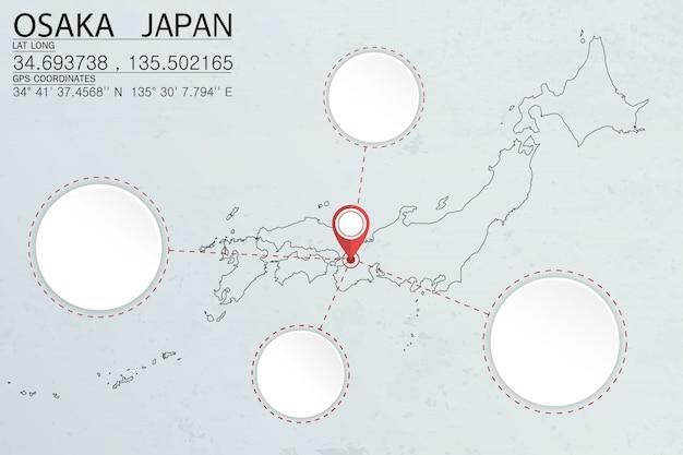 Fixação em osaka japão com espaço de círculo