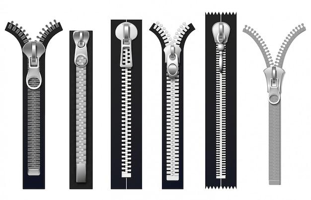 Fixadores de roupas, zíperes de metal conjunto isolado