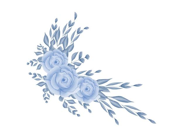 Fizera moldura floral em aquarela para cartão de convite de casamento