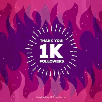 Flames background de 1k seguidores