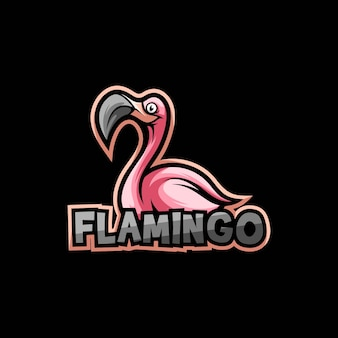 Flamingo bird logo design vector