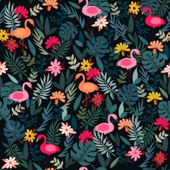 Flamingo de floresta de impressão