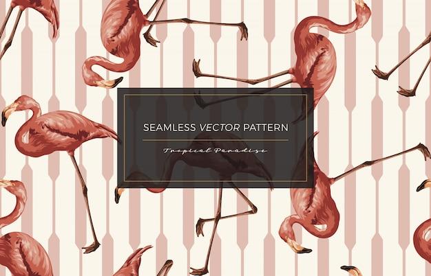 Flamingo padrão sem emenda.