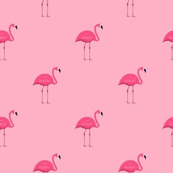 Flamingo rosa sem costura de fundo. ilustração