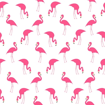 Flamingo summer seamless pattern