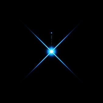 Flare de lentes brilhantes de cor azul quente vazamento para transições