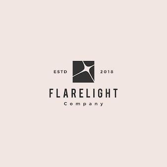 Flare luz logotipo hipster vintage retrô vector