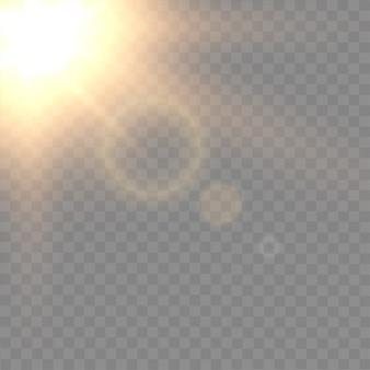 Flash brilhante em background transparente