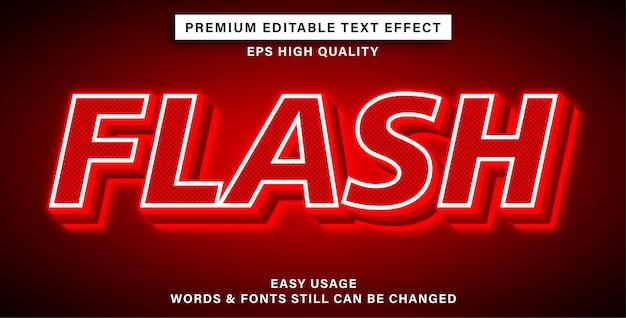 Flash de estilo de efeito de texto editável