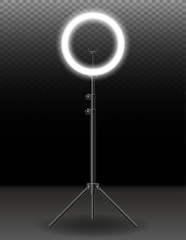 Flash de lâmpada para selfie atirando em ilustração vetorial de blogueiros, isolado no fundo