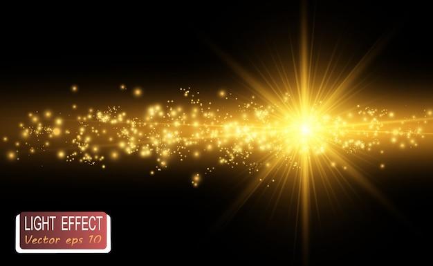 Flash de lente especial, efeito de luz. flashes raios e holofotes.