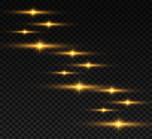 Flash de lente especial, efeito de luz. o flash pisca raios e holofotes. luz branca brilhante.