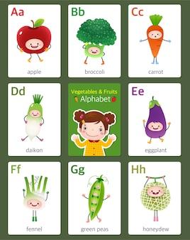 Flashcard imprimível do alfabeto inglês de a a h