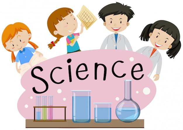 Flashcard para ciência da palavra com crianças no laboratório