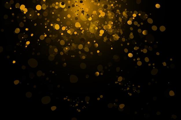 Flashes dourados, luzes e faíscas.