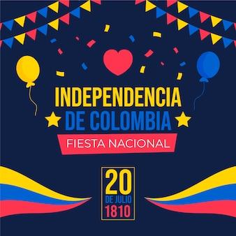 Flat 20 de julio - ilustração da independência da colômbia