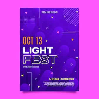 Flat a5 flyer template light fest