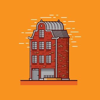 Flat apartement ilustração