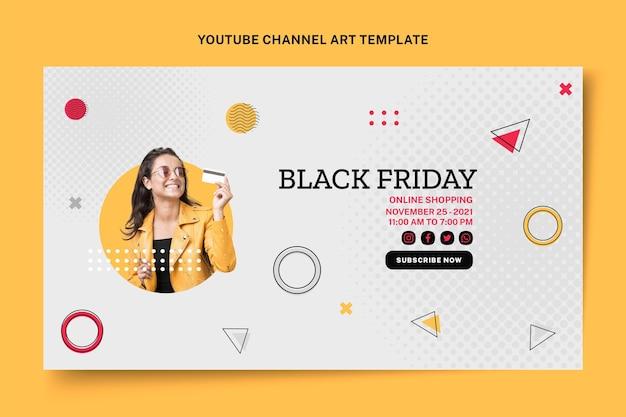 Flat black friday arte do canal do youtube