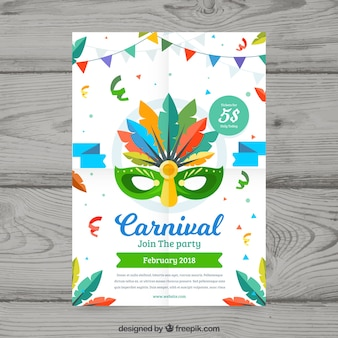 Flat carnival party flyer / poster template