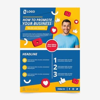 Flat design a5 flyer template