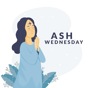 Flat design ash quarta-feira