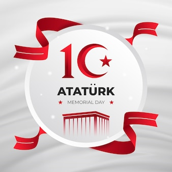 Flat design ataturk memorial day