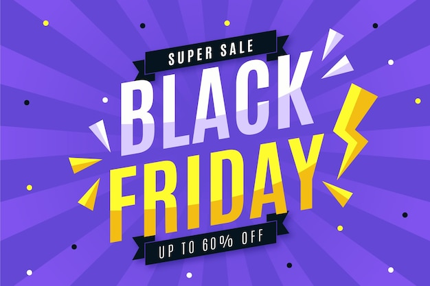 Flat design black friday